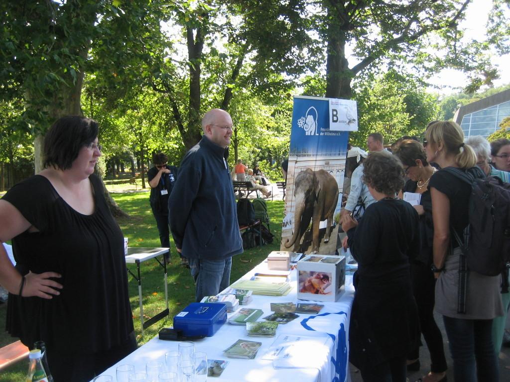 Viele Besucher erkundigten sich nach den Vorteilen einer Vereinsmitgliedschaft