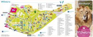 Aktueller Geländeplan der Wilhelma